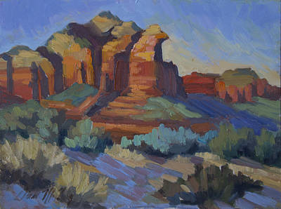 Sonoran Desert Painting - Sedona Afternoon Light by Diane McClary