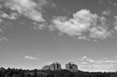 Sedona Arizona Big Sky In Black And White Print by Gregory Dyer