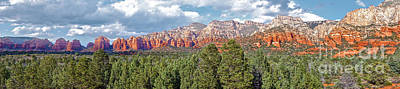 Sedona Arizona Panorama - 02 Print by Gregory Dyer
