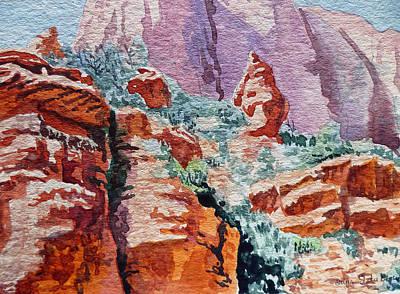 Canyon Painting - Sedona Arizona Rocky Canyon by Irina Sztukowski