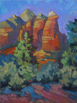 Sonoran Desert Painting - Sedona Coffee Pot Rock by Diane McClary