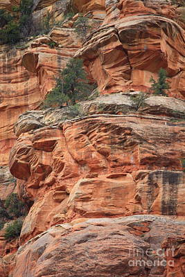 Red Rocks Of Sedona Photograph - Sedona Sandstone Cliff by Carol Groenen
