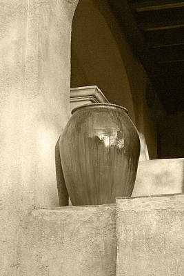 Contemporary Ceramics Photograph - Sedona Series - Jug In Sepia by Ben and Raisa Gertsberg