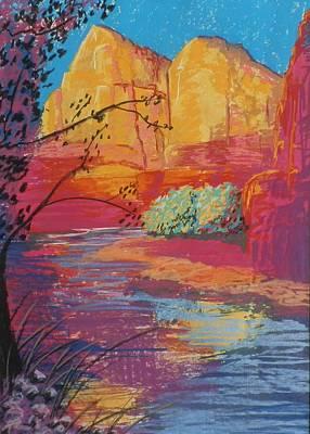 Sedona Sunrise Print by Jann Elwood