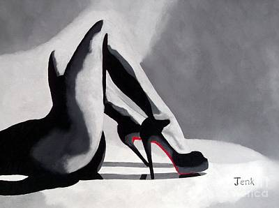 Fashion Abstract Painting - Seduction by Rebecca Jenkins