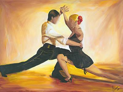Flamenco Painting - Seduction by Sheri  Chakamian