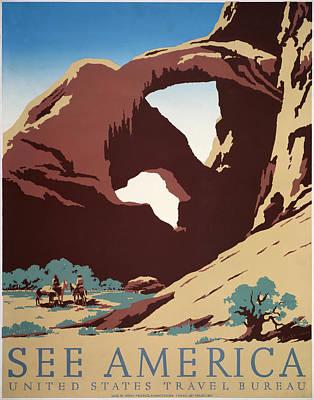 See America - Cowboys Print by Georgia Fowler