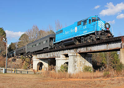 See Lancaster Santa Train 2012 5 Print by Joseph C Hinson Photography