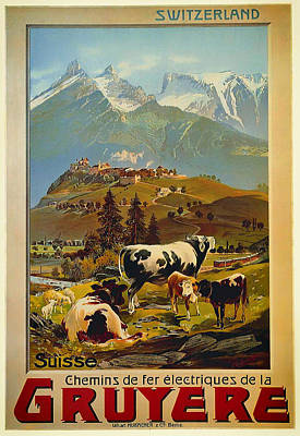 Promotion Drawing - See Switzerland 1906 by Mountain Dreams