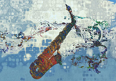 Jazz Digital Art - See The Sound 2 by Jack Zulli