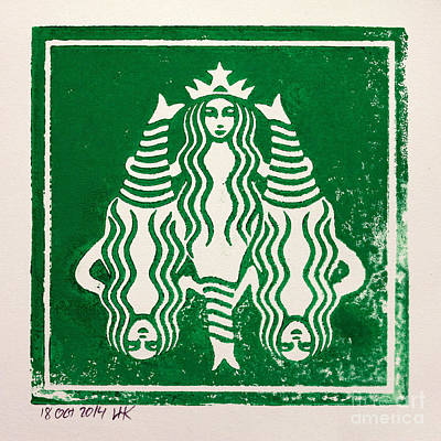 Starbucks Coffee Painting - See The Whole Picture by Igor Kislev