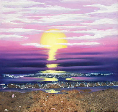 See Through The Sun Is Set Print by Susan Roberts