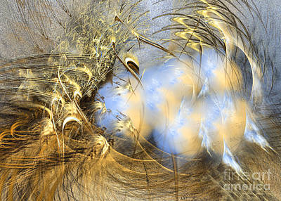 Green Digital Art - Seeds Of Peace - Surrealism by Sipo Liimatainen