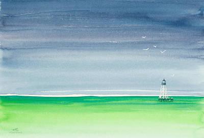 Seeking Refuge Before The Storm Alligator Reef Lighthouse Original by Michelle Wiarda
