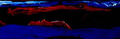 Floating Girl Painting - Seeking Sleep-3 by Kathy Peltomaa Lewis