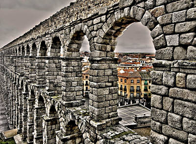Architektur Photograph - Segovia Aqueduct - Spain by Juergen Weiss