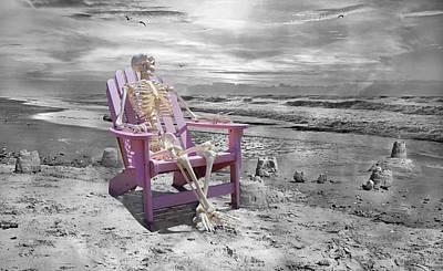 Human Skeleton Photograph - Selective by Betsy Knapp