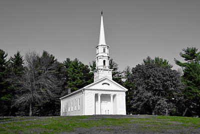 Selective Color Chapel Print by Brian Mooney