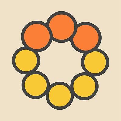 Selenium Disulfide Molecule Print by Molekuul