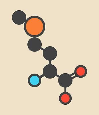 Selenomethionine Amino Acid Molecule Print by Molekuul
