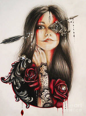 Color Pencil Mixed Media - Self Affliction by Sheena Pike