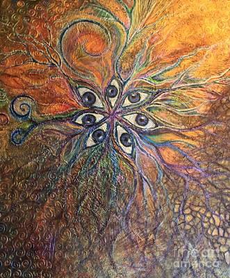 Eyes Mixed Media - Self-awareness by Alina Skye