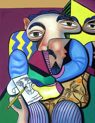 Self Portrait 101 Print by Anthony Falbo