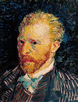 Manic Painting - Self Portrait, 1887  by Vincent van Gogh