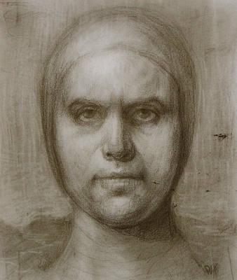 Self Portrait Before The Hurricane Print by Derek Van Derven