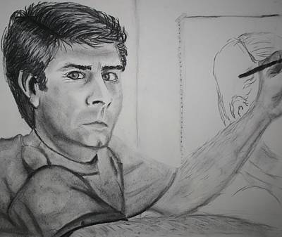 Blending Drawing - Self Portrait By Stacy C Bottoms by Stacy C Bottoms