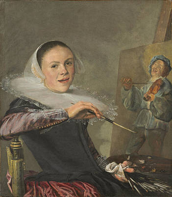 Self-portrait, C. 1630 Print by Judith Leyster