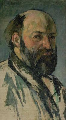 Self Portrait, C.1877-80 Oil On Canvas Print by Paul Cezanne