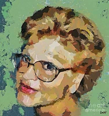 Sel Portrait Painting - Self-portrait by Dragica  Micki Fortuna