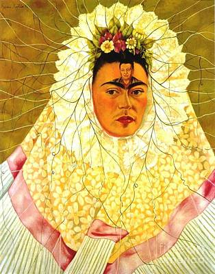 Masonite Painting - Self Portrait - Kahlo by Roberto Prusso