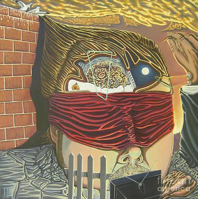 Brain Painting - Subconcious Self Portrait by Mack Galixtar