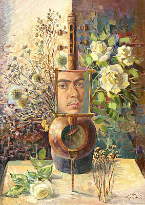 High Side Painting - Self-portrait Our Two Parties by Meruzhan Khachatryan
