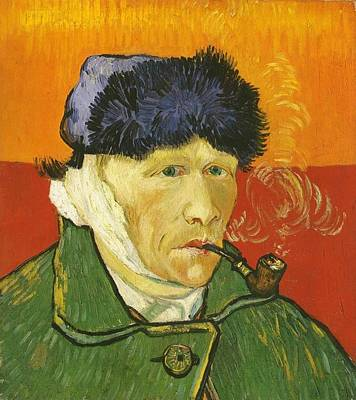 Bandages Painting - Self-portrait With Bandaged Ear And Pipe by Vincent van Gogh