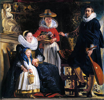 Jacob Jordaens Painting - Self-portrait With Family by Jacob Jordaens