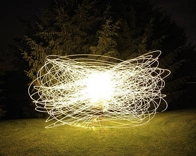 Joseph Duba Photograph - Self Portrait Within Light Swirls 2012 by Joseph Duba