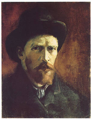 Self-portriat With Dark Felt Hat Print by Vincent Van Gogh