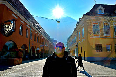 Selfe With The Spirit Of Dracula. Brasov Council Place Original by Andy Za
