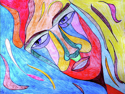 Tears Drawing - Selfless by Donna Blackhall
