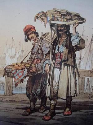 Jihad Painting - Sellers In Istanbul  by Celestial Images