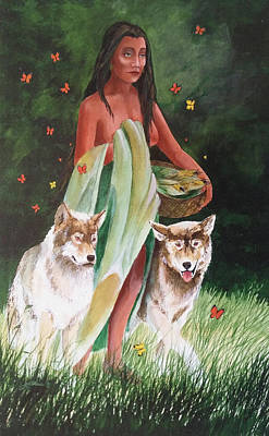 Painting - Selu And Her Companions by John Guthrie