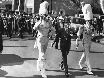 Senator Huey Long In Parade Print by Underwood Archives