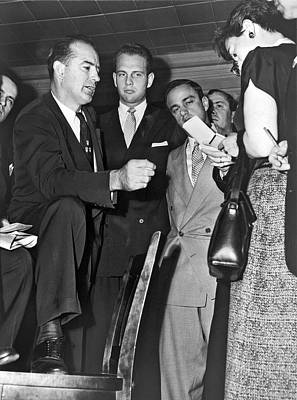 Press Conference Photograph - Senator Joseph R. Mccarthy by Underwood Archives