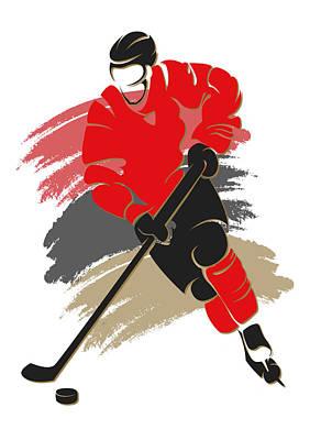 Hockey Photograph - Senators Shadow Player2 by Joe Hamilton