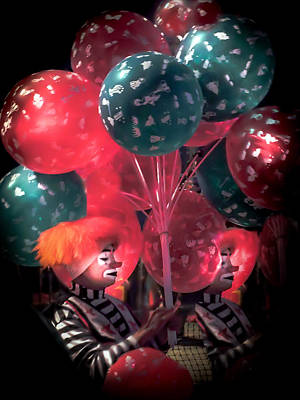 Red Balloons Photograph - Send In The Clowns by Karen Wiles