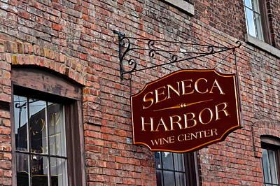 Seneca Harbor Wine Center Print by Frozen in Time Fine Art Photography