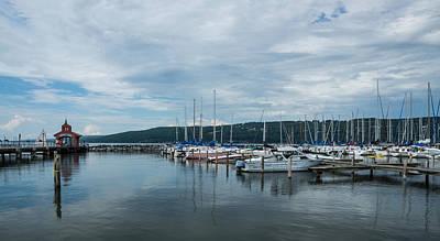 Seneca Lake Harbor - Watkins Glen - Wide Angle Print by Photographic Arts And Design Studio